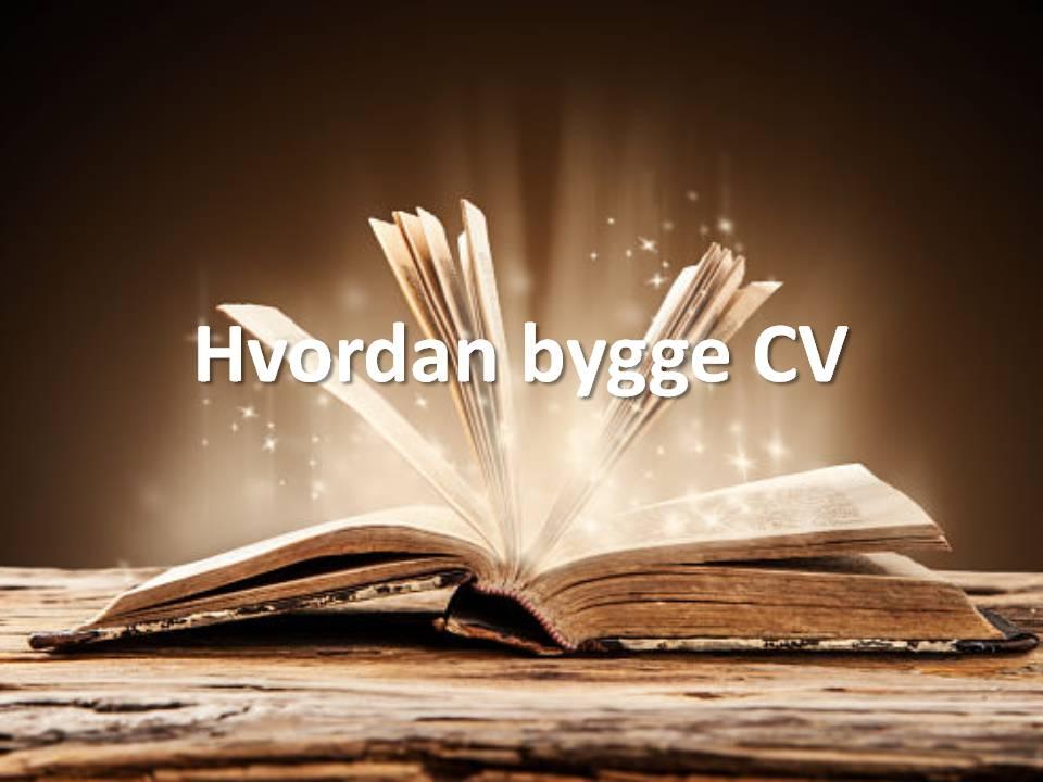 CV, Småjobber Og Frivillighet